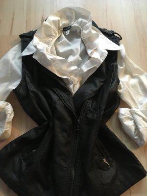 Biker Vest black-silver-colored