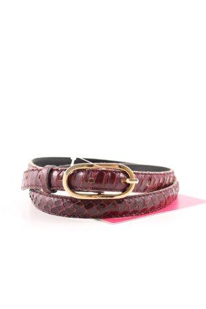 Lederimitatgürtel bordeauxrot-braunrot Elegant