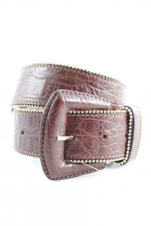 Faux Leather Belt brown country style