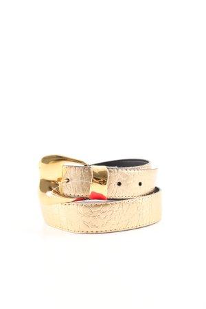 Lederimitatgürtel goldfarben Casual-Look