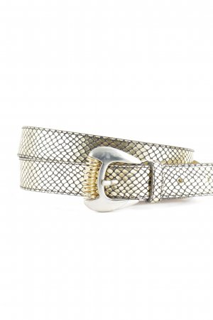 Faux Leather Belt gold-colored-black animal pattern '90s style