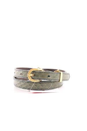 Lederimitatgürtel grüngrau-khaki Casual-Look
