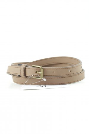Faux Leather Belt light brown casual look