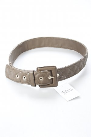 Faux Leather Belt khaki quilting pattern classic style