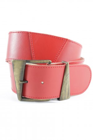 Faux Leather Belt red '90s style