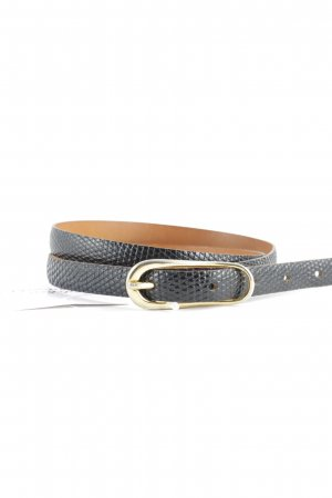 Ceinture en similicuir noir motif animal style simple