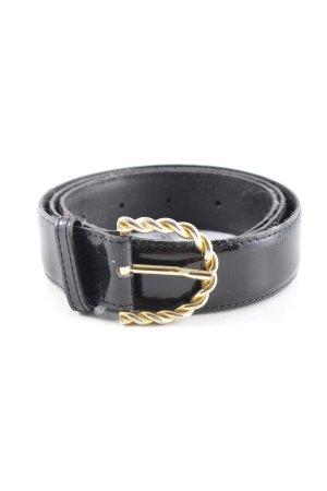 Faux Leather Belt black-gold-colored elegant