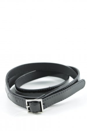 Faux Leather Belt black leather-look