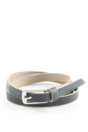 Lederimitatgürtel schwarzbraun-beige Business-Look