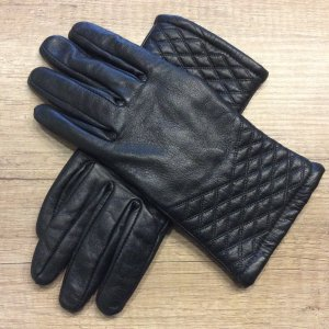 Faux Leather Gloves black imitation leather