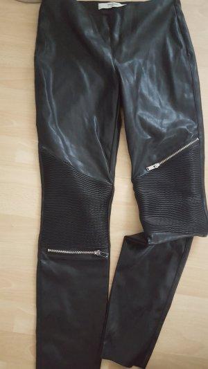 Vero Moda Pantalone in pelle nero