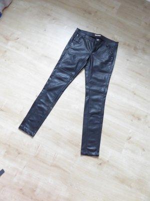 Lederimitathose schwarz 1x getragen