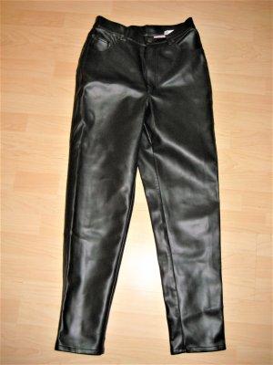 John Baner Leren broek zwart Polyurethaan