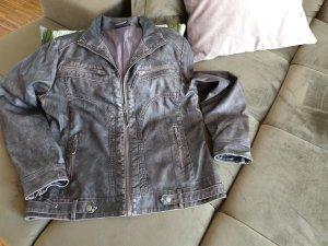 Faux Leather Jacket dark grey