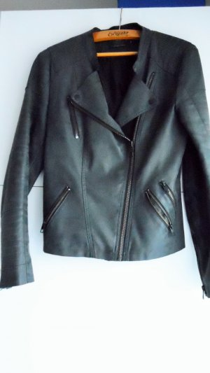 Only Faux Leather Jacket grey imitation leather