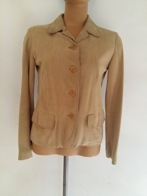 Max Mara Leather Blazer beige suede