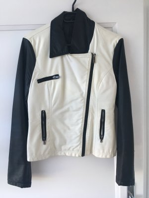 Ann Christine Leather Jacket white-black
