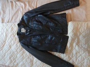 Only Leren jurk zwart