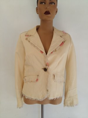 Leather Blazer natural white