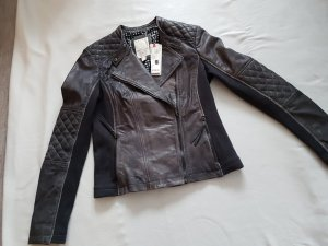 de.corp by Esprit Leather Jacket grey