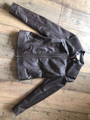 Orsay Leather Jacket black brown