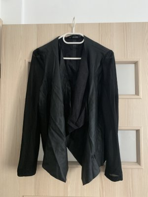 Zara Leather Blazer black