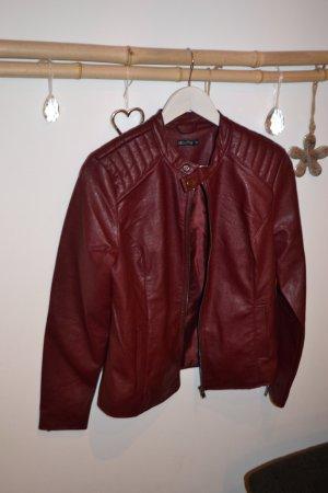 Faux Leather Jacket bordeaux imitation leather