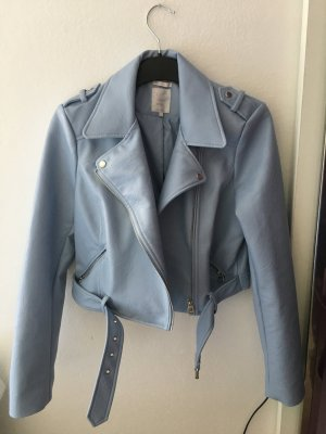 Zara Faux Leather Jacket azure