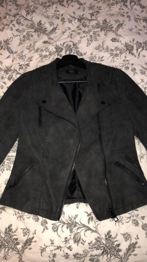Only Leather Jacket black leather