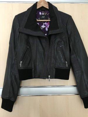 Avant Première Leather Jacket black