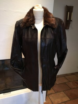 Ambiente Leather Jacket dark brown-brown leather