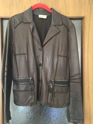 Benedetta Novi Leather Jacket brown