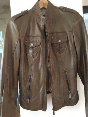 Tamaris Leather Jacket brown