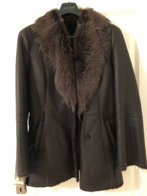 Fur Jacket bronze-colored leather