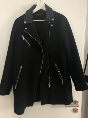 Zara Trafaluc Manteau en cuir noir
