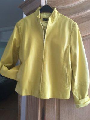 0039 Italy Veste en cuir jaune cuir