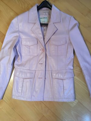 Ann LLewellyn Leather Jacket light pink leather