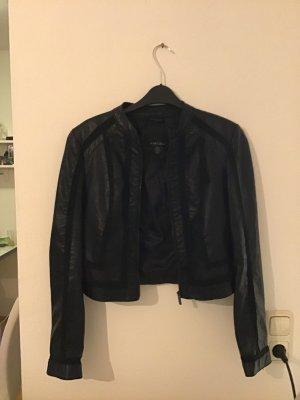 Amisu Veste en cuir noir
