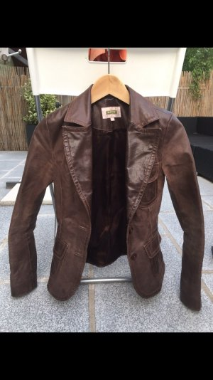 BlendShe Leather Jacket brown