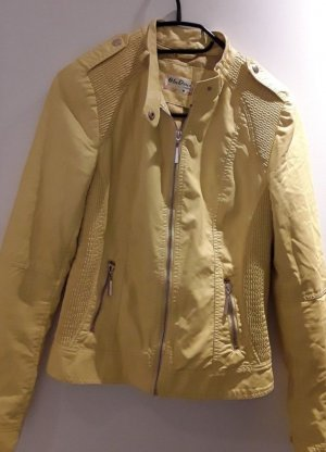 & other stories Faux Leather Jacket yellow