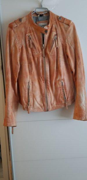 Blue Monkey Leather Jacket nude-light orange leather