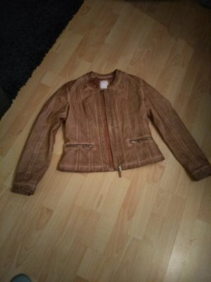 Alba Moda Leather Jacket sand brown