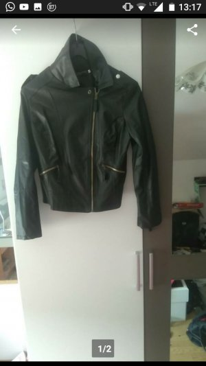 & other stories Faux Leather Jacket black leather