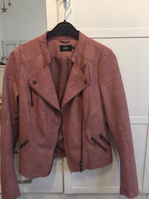 Only Faux Leather Jacket pink