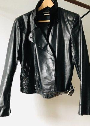 Ann Demeulemeester Veste en cuir noir cuir