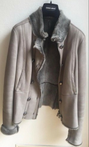 Armani Collezioni Leather Jacket multicolored leather