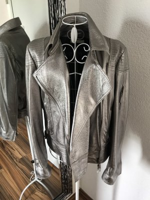 Art To Be Leather Jacket silver-colored