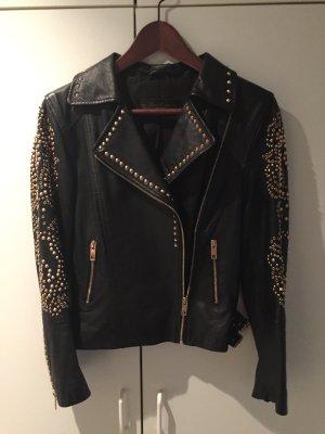 Lederjacke aus der Zara Premium Collection