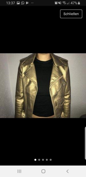 lederjacke aus gold
