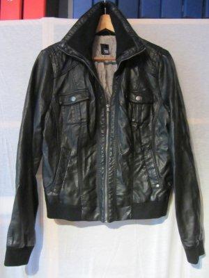 Lederjacke aus PU von Pimkie, schwarz, Gr. 42